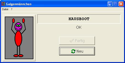 Screenshot von Galgenmännchen
